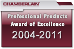 Chamberlain Liftmaster Award of Excellence 2004 - 2010